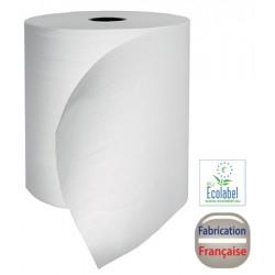 Colis de 6 rlx essuie mains 150 m 2 plis collés laize 19,4 cm blanc