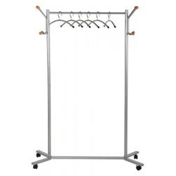 Vestiaire mobile porte-cintres structure métal gris moyen L80 cm