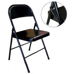 Lot de 6 chaises pliantes accrochables 100% métal noir