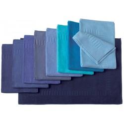 Tapis de bain 100% coton 50x70 cm 700g gamme bleus