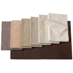 Tapis de bain 100% coton 50x70 cm 700g gamme marrons