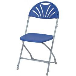 Lot de 8 chaises pliantes et accrochables Manon M2 bleues