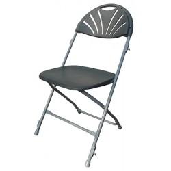 Lot de 8 chaises pliantes et accrochables Manon M2 grises