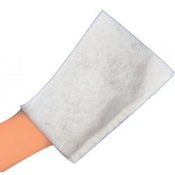 Colis de 1000 gants de toilette jetables blanc (non tissé)