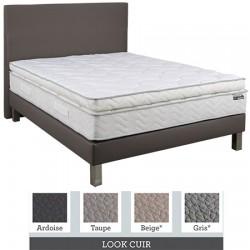 Tête de lit finition lisse tissu premium ou similicuir L90xH115 cm