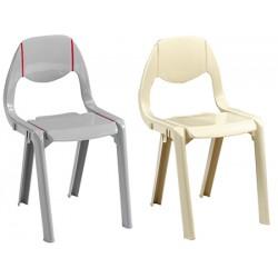 Chaise monobloc empilable et assemblable Alix Gris ou Beige