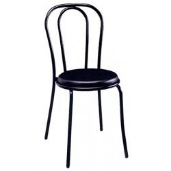 Chaise Bistro assise PVC noire thermosoudée