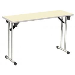 Table pliante Auvergne mélaminé chant antichoc 120x40 cm