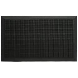 Lot de 6 tapis extérieurs picot noirs 80 x 100 cm