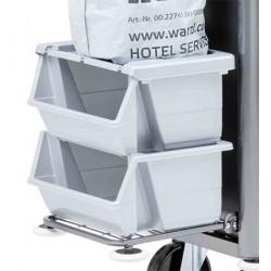 Couvercle pour bac de tri des déchets en plastique gris 40L