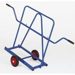 Chariot porte-panneaux roues caoutchouc (charge 400 kg)