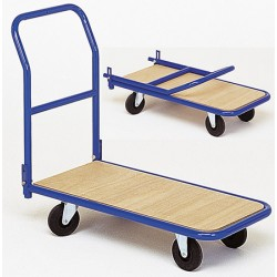 Chariot magasin dossier rabattable plateau bois (charge 250 kg)