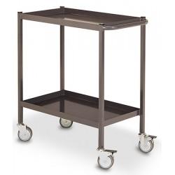 Servante d'atelier 2 plateaux métal (charge 150 kg)