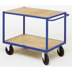 Servante d'atelier 2 plateaux bois (charge 500 kg)
