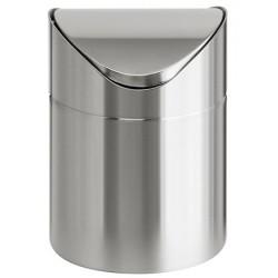 Poubelle de table inox avec couvercle à bascule 1,5 L