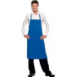 Tablier à bavette long bleu 75x95 cm