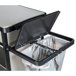 Support de sac poubelle repliable tri et grille inférieure pour chariots Venise