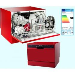 Lave vaisselle compact 6 couverts 49 dB A+ rouge