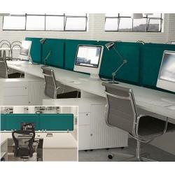 Panneau acoustique double face bureau avec 2 pinces L60 x H50 cm