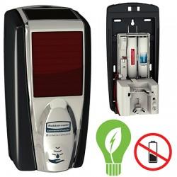 Distributeur de savon automatique LumiCel™ 1100 ml noir chromeDistributeur de savon automatique LumiCel™ 1100 ml noir chrome