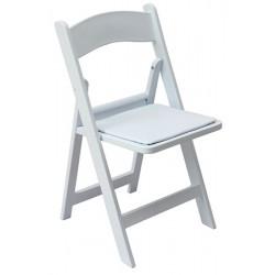Lot de 4 chaises pliantes polypropylène Festives blanches