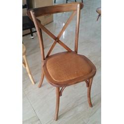 Lot de 4 chaises en bois Auvergne