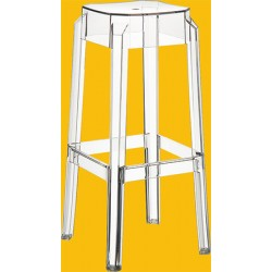 Lot de 2 tabourets de bar Fox transparents