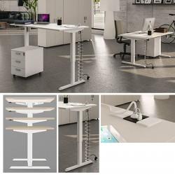 Bureau Confort réglable en hauteur électriquement 140 x 80 cm