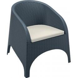Lot de 4 coussins beiges pour fauteuil empilable Lounge
