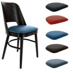 Lot de 2 chaises Colisée hêtre wengé et galette d'assise au choix