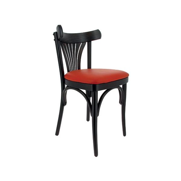 Orléans cuir et de noir simili rouge 2 Lot chaises Nouvelle hêtre YIyfvb76g