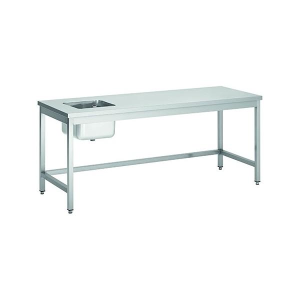 Table De De Chef Avec Evier Inox L120xp70 Cm
