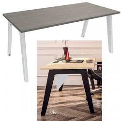 Bureau plan Steely simple face départ 160 x 80 cm