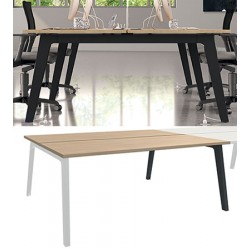 Bureau plan Steely double face suivant 120 x 80 cm