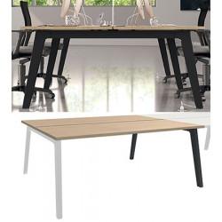 Bureau plan Steely double face suivant 160 x 80 cm