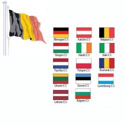 Pavillon de pays de l'UE Cat 1 maille polyester 115 g 150 x 225 cm