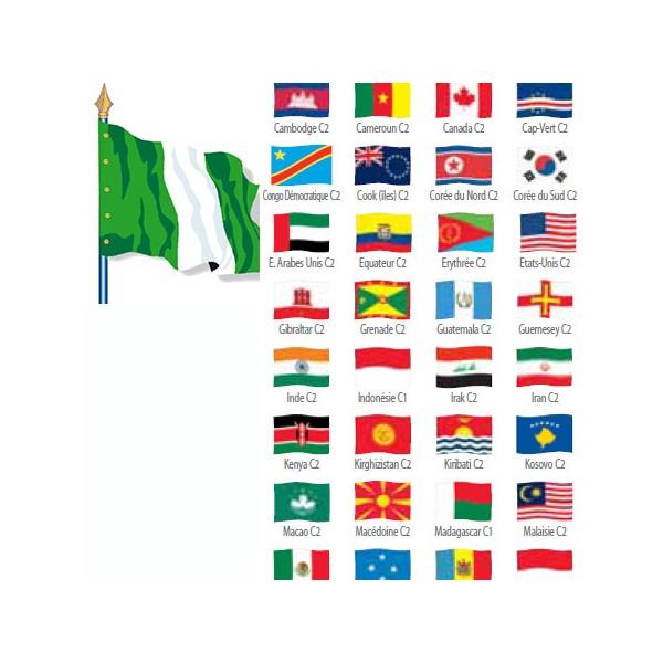Digni/® Drapeau Cameroun sur hampe