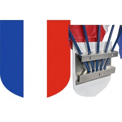 Ecusson porte-drapeaux aluminum tricolore 39 x 45 cm