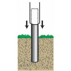 Manchon pour fixation au sol des mâts base diamètre 60 mm
