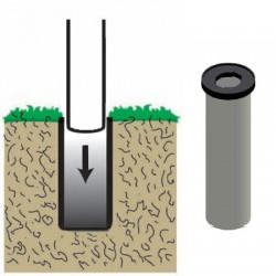 Fourreau pour fixation au sol des mâts base diamètre 100 mm