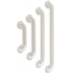Barre d'appui droite L61 cm en acier époxy blanc
