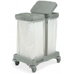 Collecteur de déchets mobile double sacs 120 L
