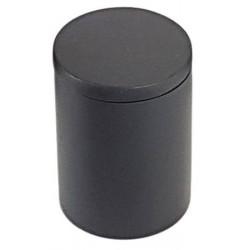 Lot de 24 boites avec couvercle ø7 x H10 cm résine noire