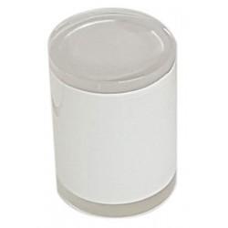 Lot de 24 boites avec couvercle ø7 x H10 cm résine blanche