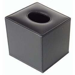 Lot de 31 boites à mouchoirs cube en similicuir noir