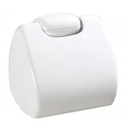 Porte-rouleau papier hygiénique plastique blanc ROSSIGNOL Basic
