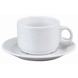 Tasse déjeuner porcelaine Létonie 26 cl (le lot de 12)