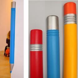 Lot de 20 protections de coin de mur en forme de crayon H100 x 7 x 7 cm