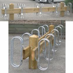 Range vélos bois et acier 10 places