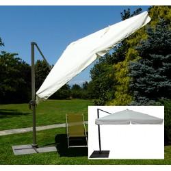 Parasol déporté Camaret alu et polyester 300x400 cm